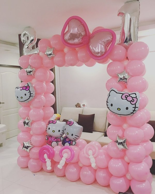 21 hello kitty birthday party ideas pretty my party. Black Bedroom Furniture Sets. Home Design Ideas