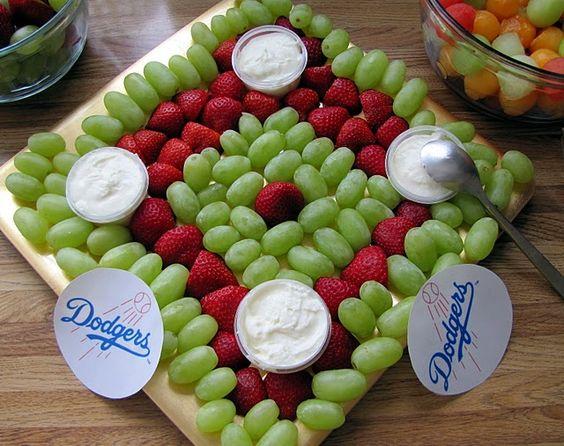 Baseball Diamond Fruit Platter | Baseball Party Ideas