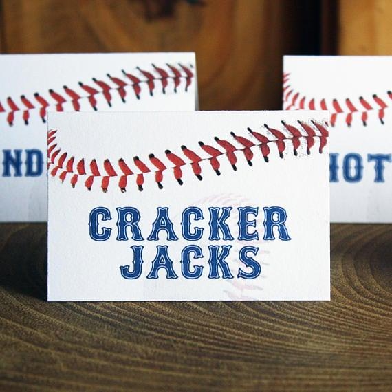 Baseball Food Labels | Baseball Party Ideas