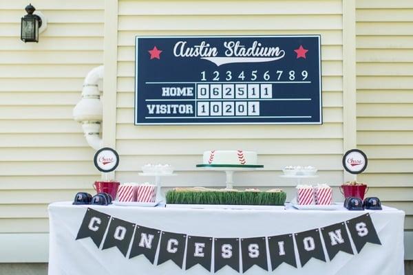 Baseball Party Scoreboard | Baseball Party Ideas