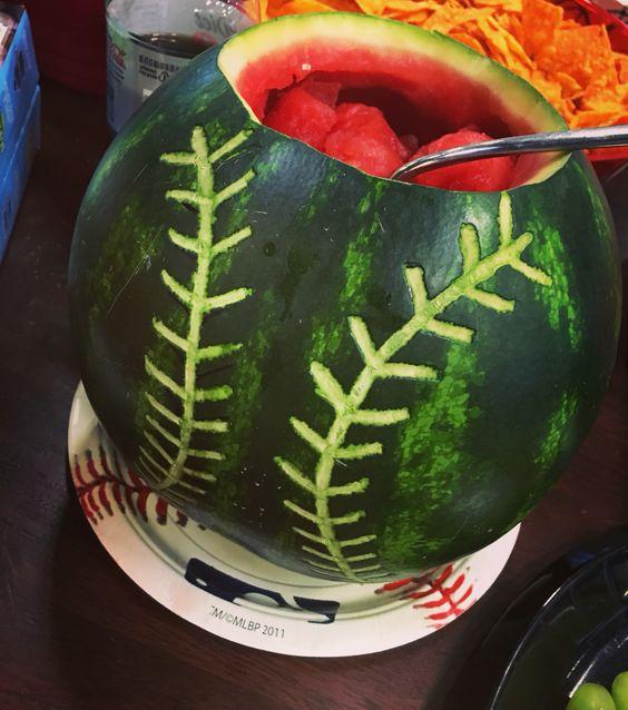 Baseball Watermelon | Baseball Party Ideas