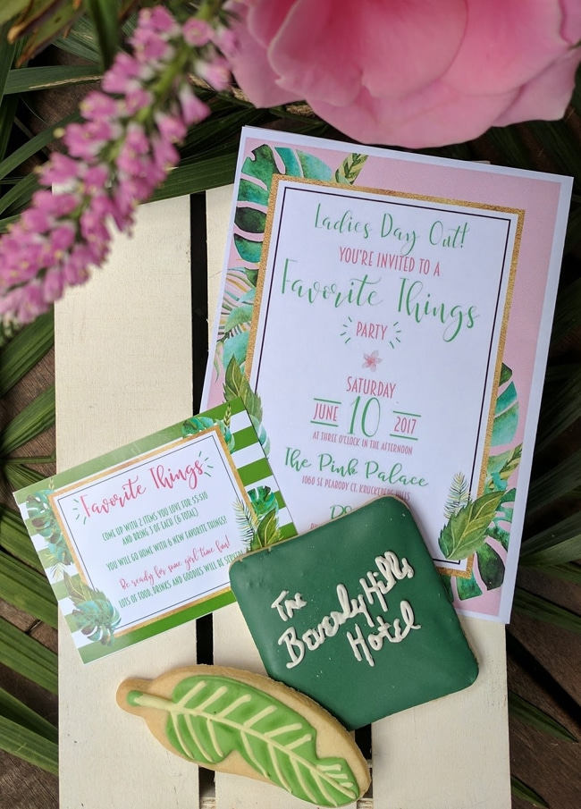 Beverly Hills Inspired Favorite Things Party featured on Pretty My Party