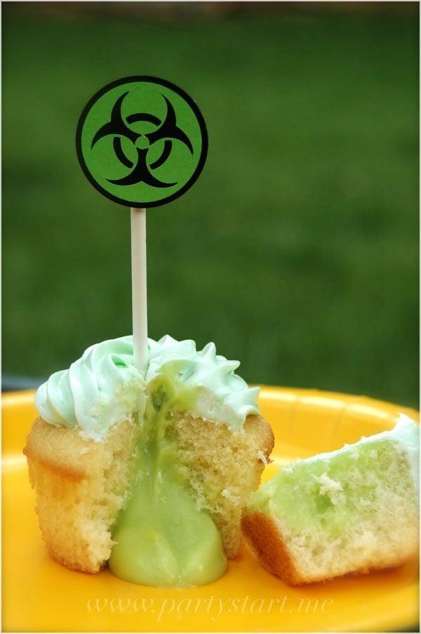 Biohazard Cupcakes | Mad Scientist Party Ideas