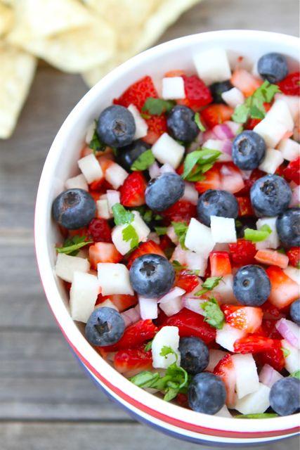 Blueberry Strawberry Jicama Salsa | Labor Day Party Ideas