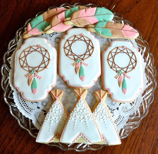 Boho Party Cookies - Boho Party Ideas