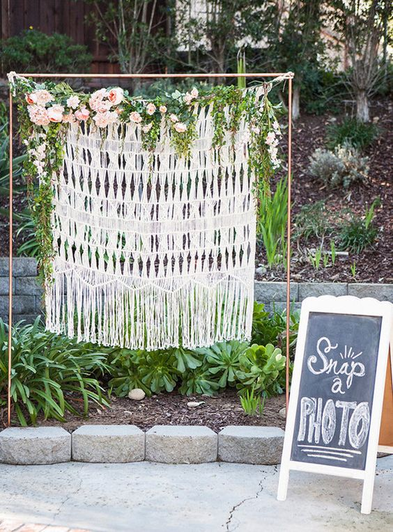 Boho Chic Photo Booth - Boho Chic Party Ideas
