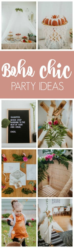 Boho Chic Second Birthday Party featured on Pretty My Party