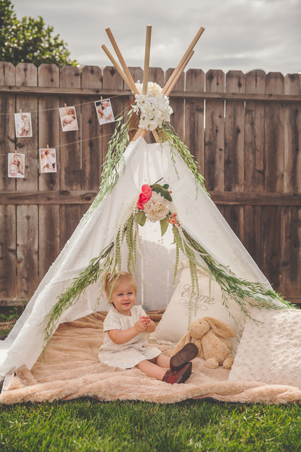 Boho Chic Tee Pee - Boho Chic Party Ideas