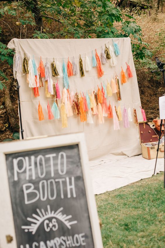 Boho Tassel Photo Booth - Boho Chic Party Ideas