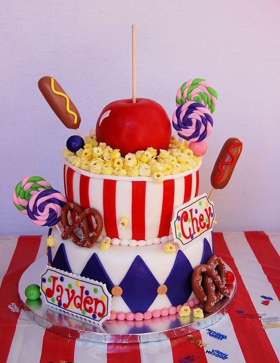 Carnival Birthday Cake | Carnival Party Ideas