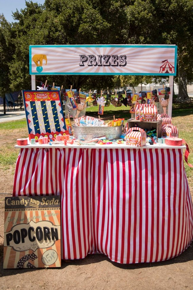 Whimsical Circus First Birthday Party Prizes