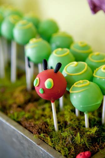Very Hungry Caterpillar Cake Pops | Very Hungry Caterpillar Party Ideas