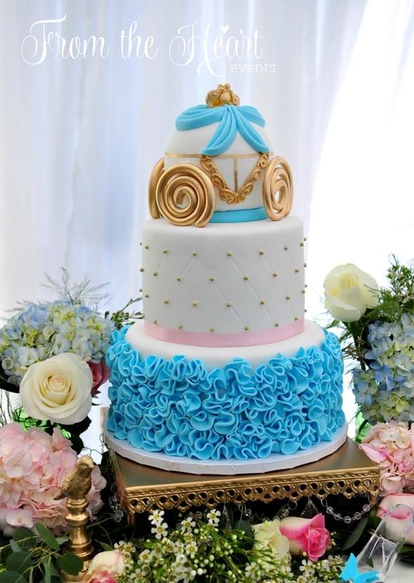 Cinderella Birthday Cake | Cinderella Party Ideas