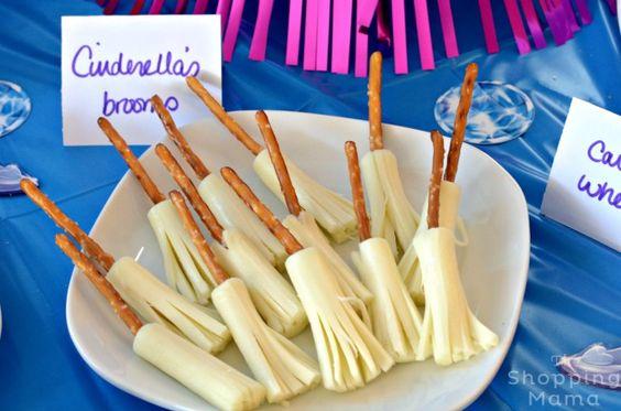 Cinderella Broomsticks | Cinderella Party Ideas