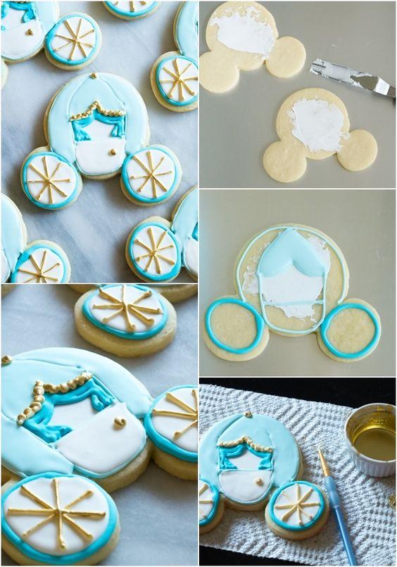 Cinderella Carriage Cookies | Cinderella Party Ideas