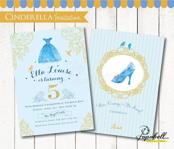 Cinderella Birthday Invitation | Cinderella Party Ideas