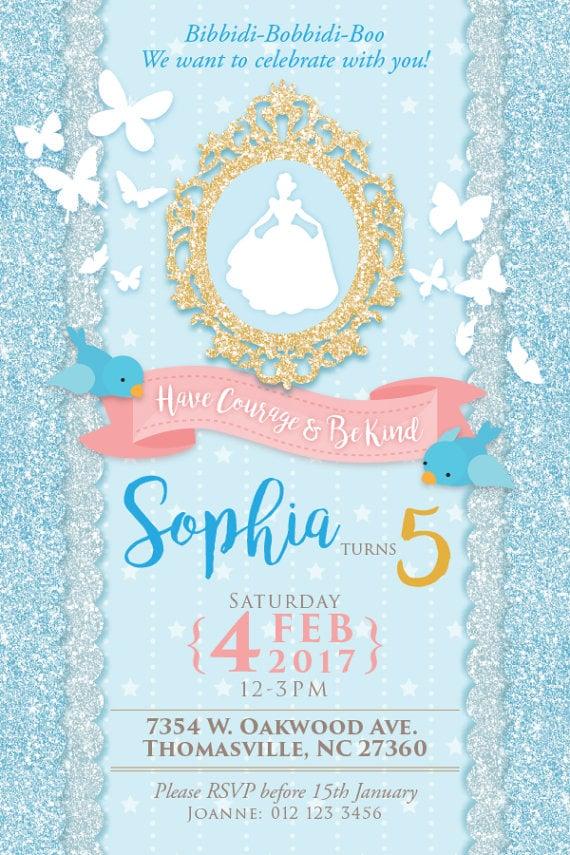 Cinderella Party Invitation | Cinderella Party Ideas