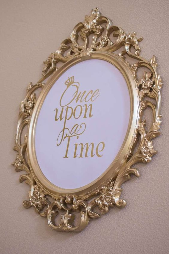 Cinderella Gold Frame | Cinderella Party Ideas