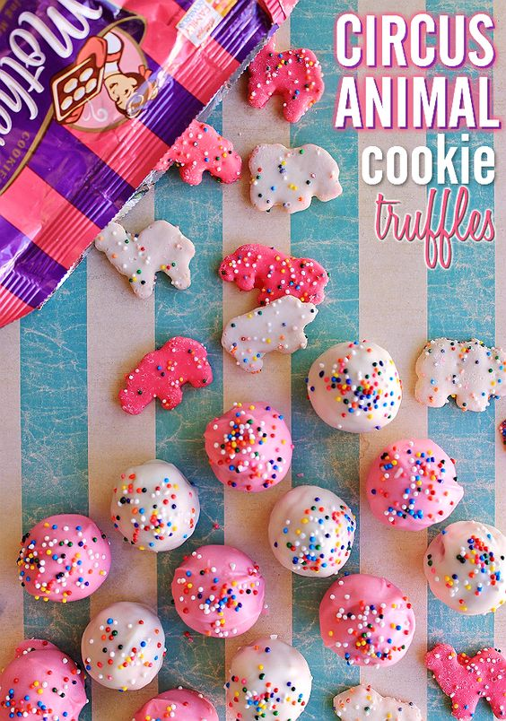 Circus Animal Cookie Truffles | Circus Animal Cookie Party Ideas