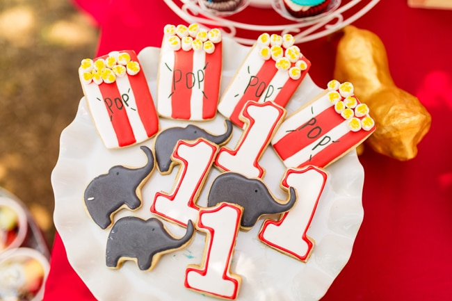 Whimsical Circus First Birthday Party Cookies
