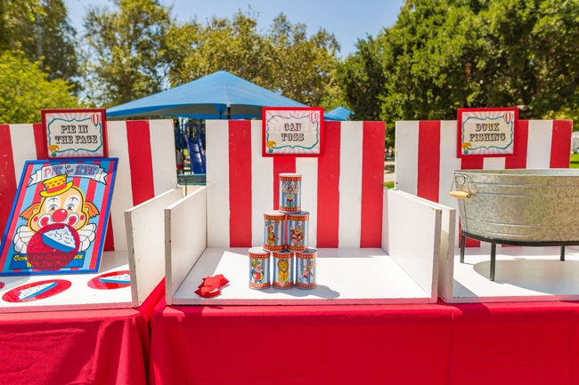 Whimsical Circus First Birthday Party Games