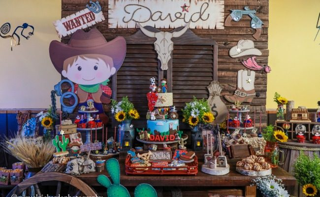 Amazing Cowboy First Birthday Party