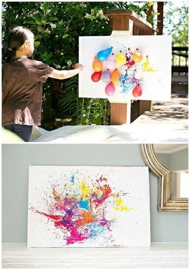 Dark Balloon Painting | Art Themed Party Ideas