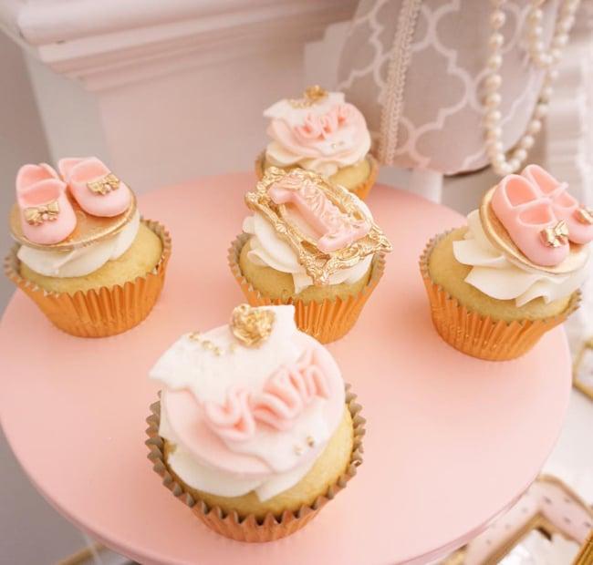 Diamond and Dior Themed Birthday Party Cupcakes