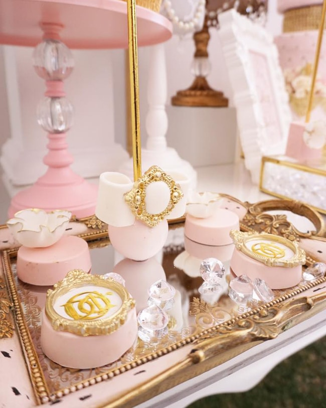 Diamond and Dior Themed Birthday Party Sweets