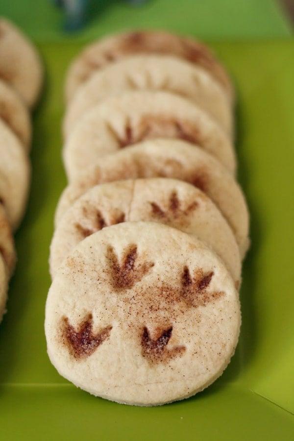 Dino Track Cookies | Dinosaur Birthday Party Ideas