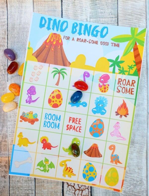 Free Dinosaur Bingo Printable Game | Dinosaur Birthday Party Ideas