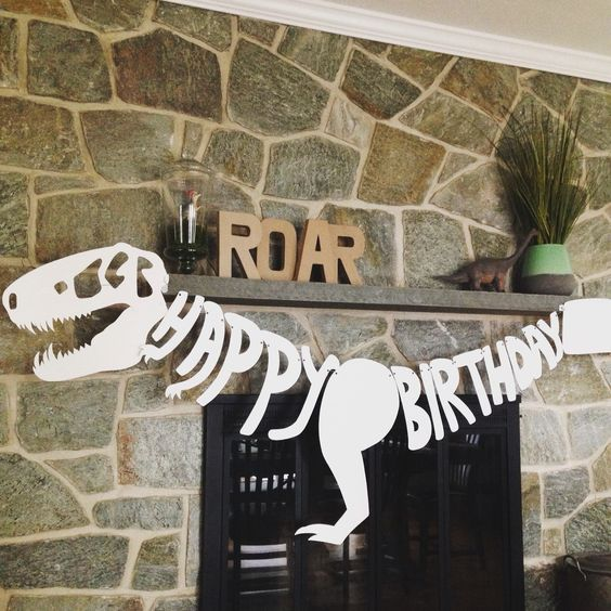 Dinosaur Birthday Banner | Dinosaur Birthday Party Ideas