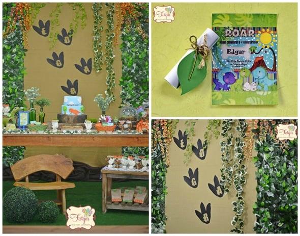 Dinosaur Footprint Backdrop | Dinosaur Birthday Party Ideas