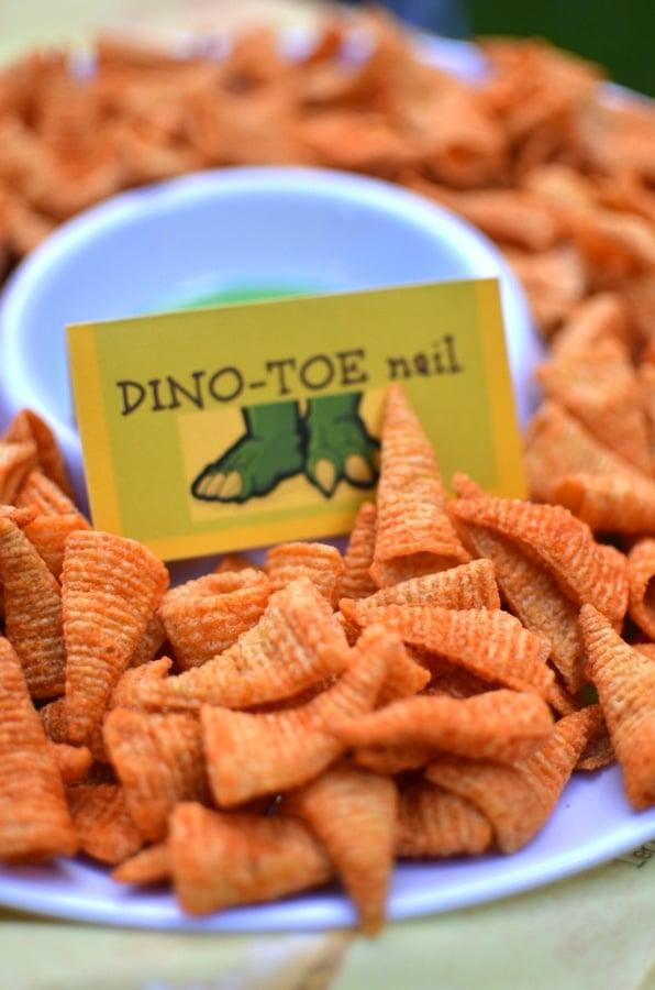 Dinosaur Toe Nails | Dinosaur Birthday Party Ideas