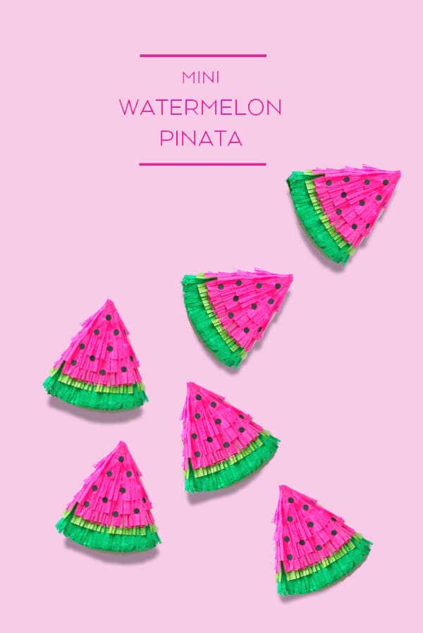DIY Watermelon Mini PInatas | Tutti Frutti Party Ideas
