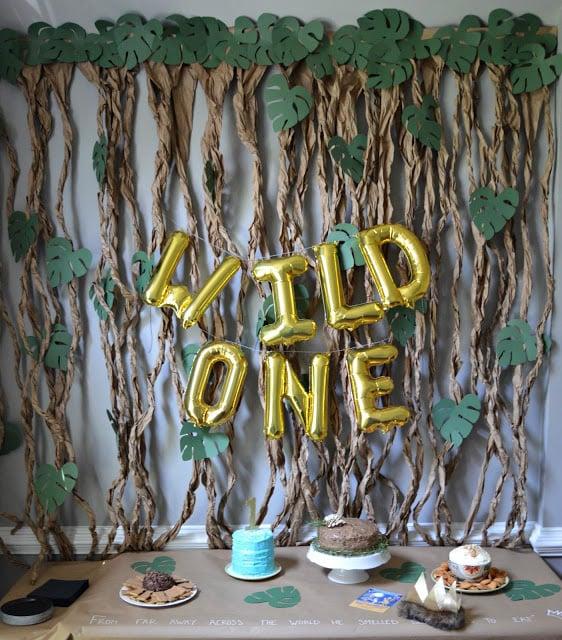 DIY Wild One Dessert Table Backdrop - Wild One Birthday Decorations