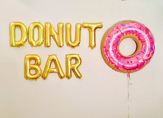 Donut Bar Balloons | Donut Themed Party Ideas