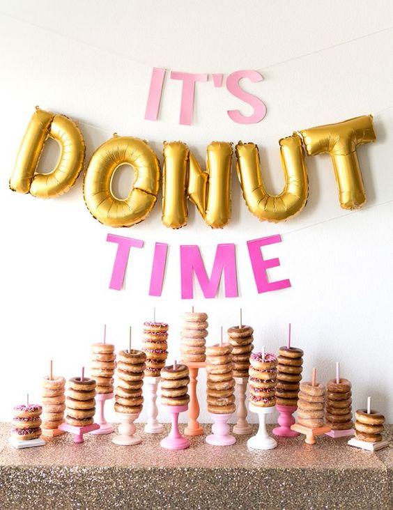 Donut Bar | Donut Themed Party Ideas