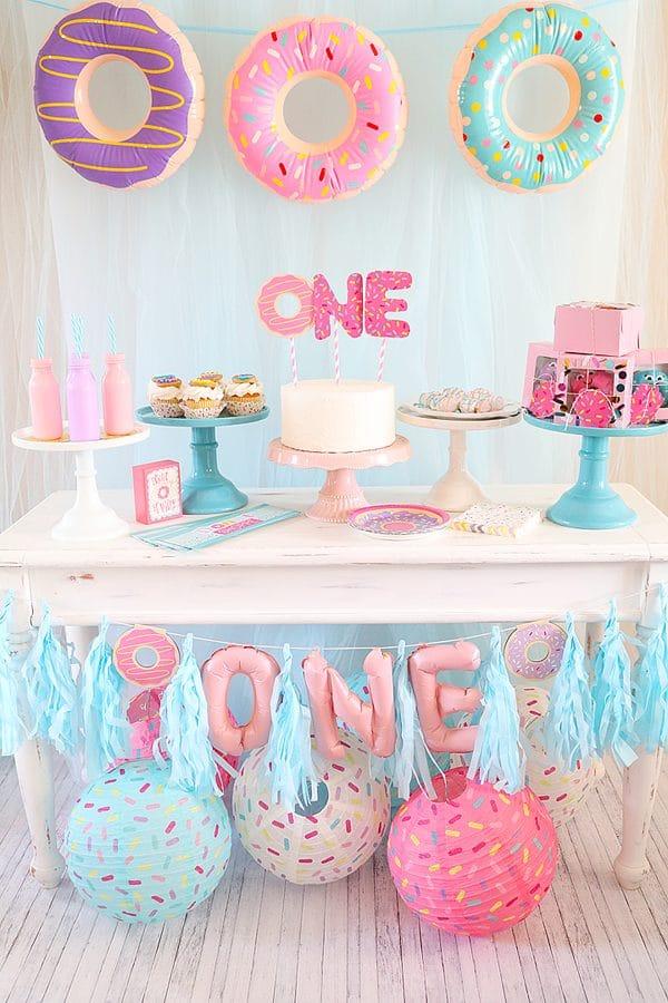 Donut Party Dessert Table - Donut Birthday