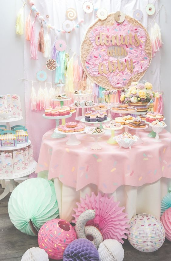 Donut Party Dessert Table | Donut Party Ideas