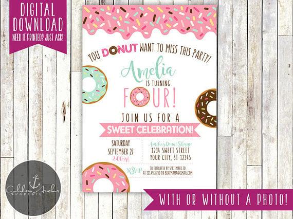 Donut Party Invitation | Donut Party Ideas