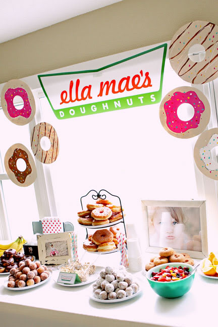Donut Party Table | Donut Themed Party Ideas