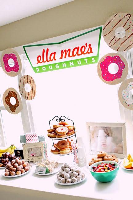 Donut Party Table | Donut Birthday Party Ideas