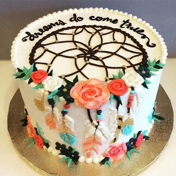 Dreamcatcher Birthday Cake - Boho Chic Party Ideas