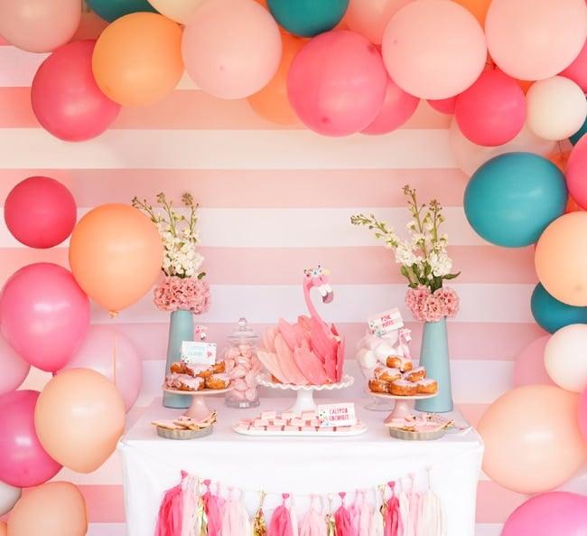Flamingo Party Dessert Table