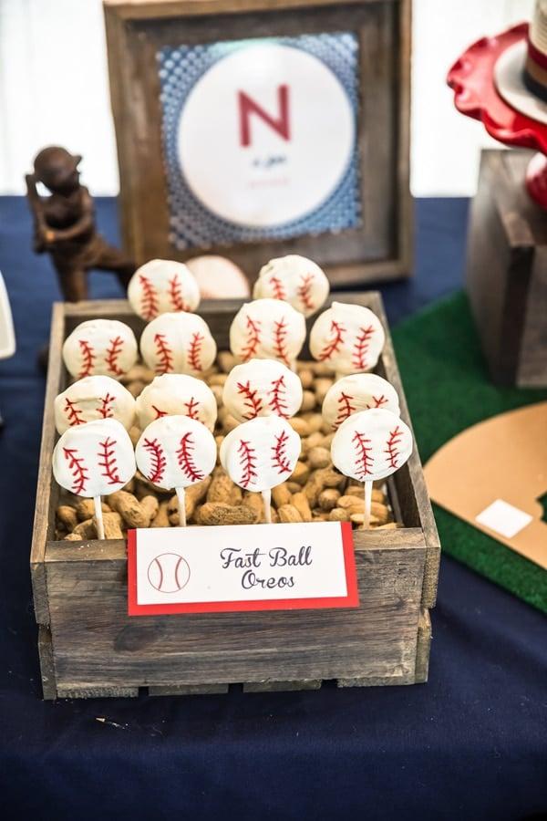 Fast Ball Oreo Pops | Baseball Party Ideas