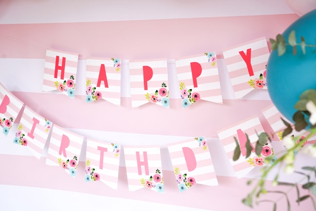 Flamingo Party Banner