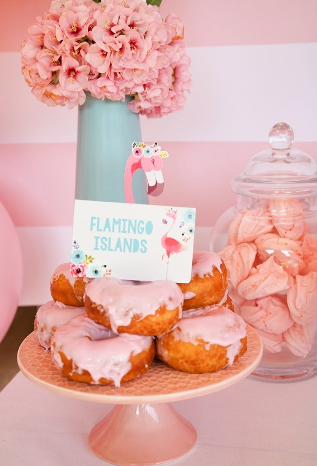Flamingo Party Donuts