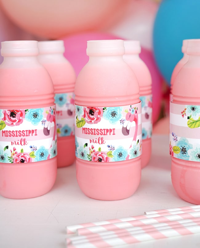 Flamingo Party Milk