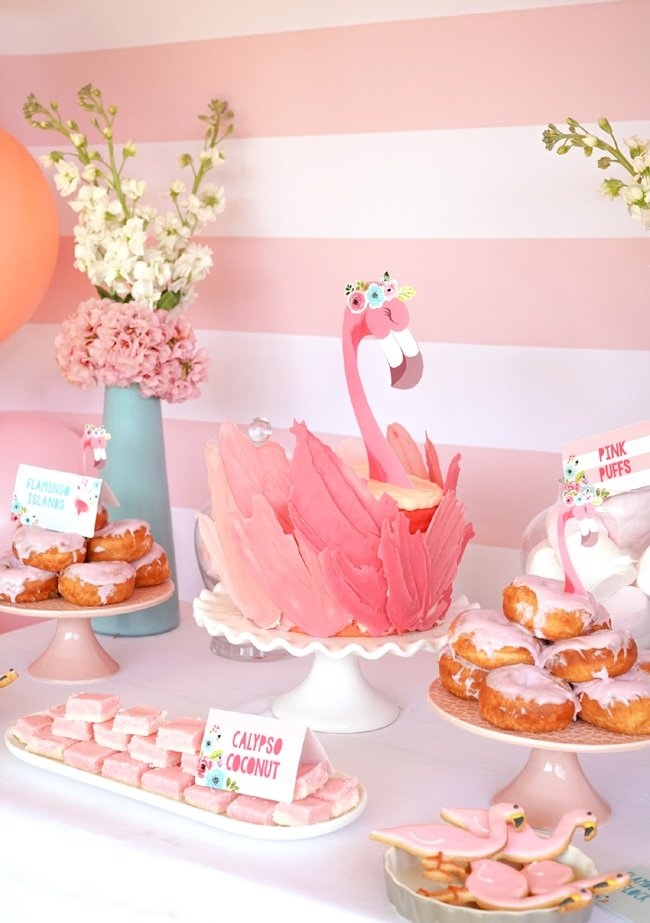 Flamingo Party Cake